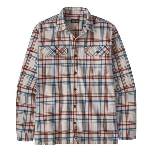 Patagonia Men's Long-Sleeved Organic Cotton Midweight Fjord Flannel Shirt Grey_drco