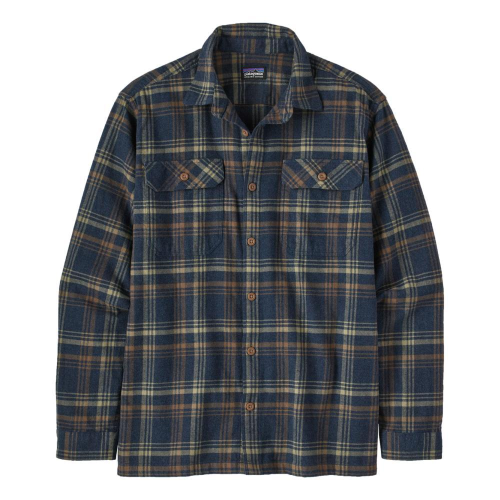 Patagonia Men's Long-Sleeved Organic Cotton Midweight Fjord Flannel Shirt NAVY_DRNE