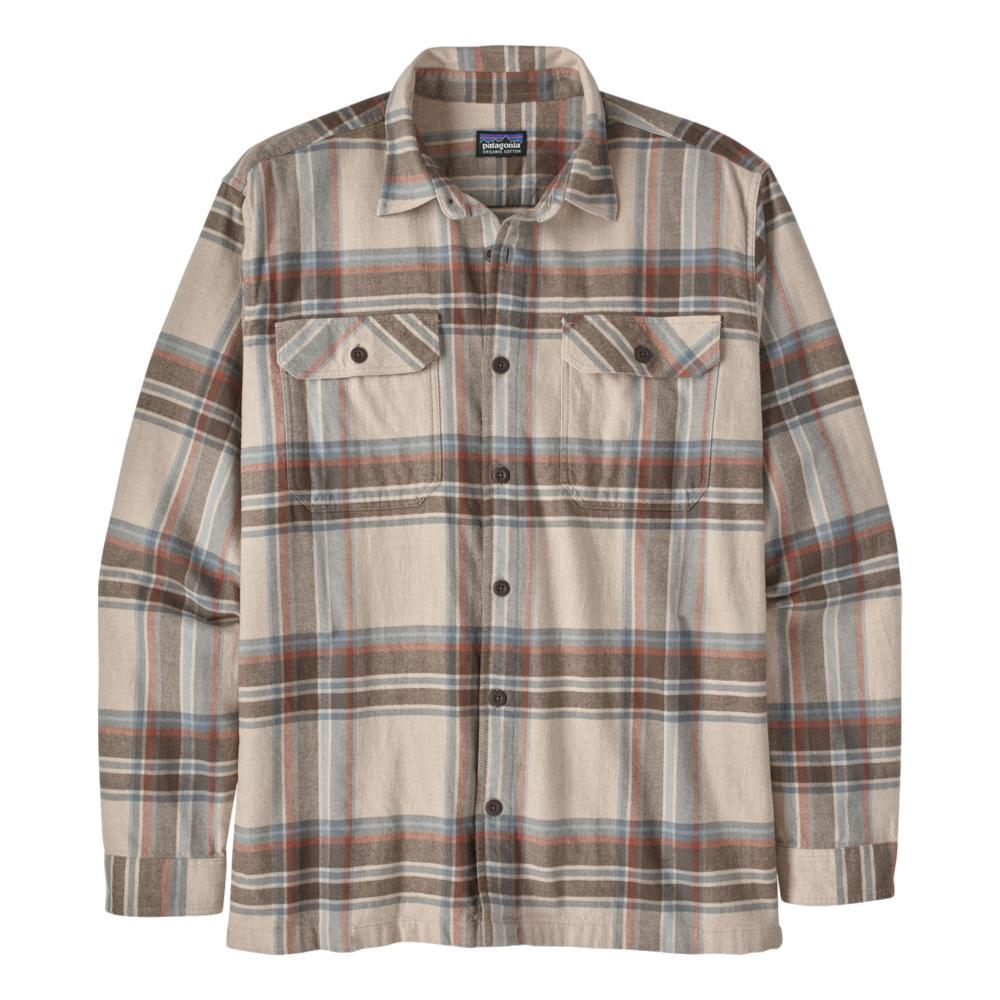 Patagonia Men's Long-Sleeved Organic Cotton Midweight Fjord Flannel Shirt TAN_EDTN