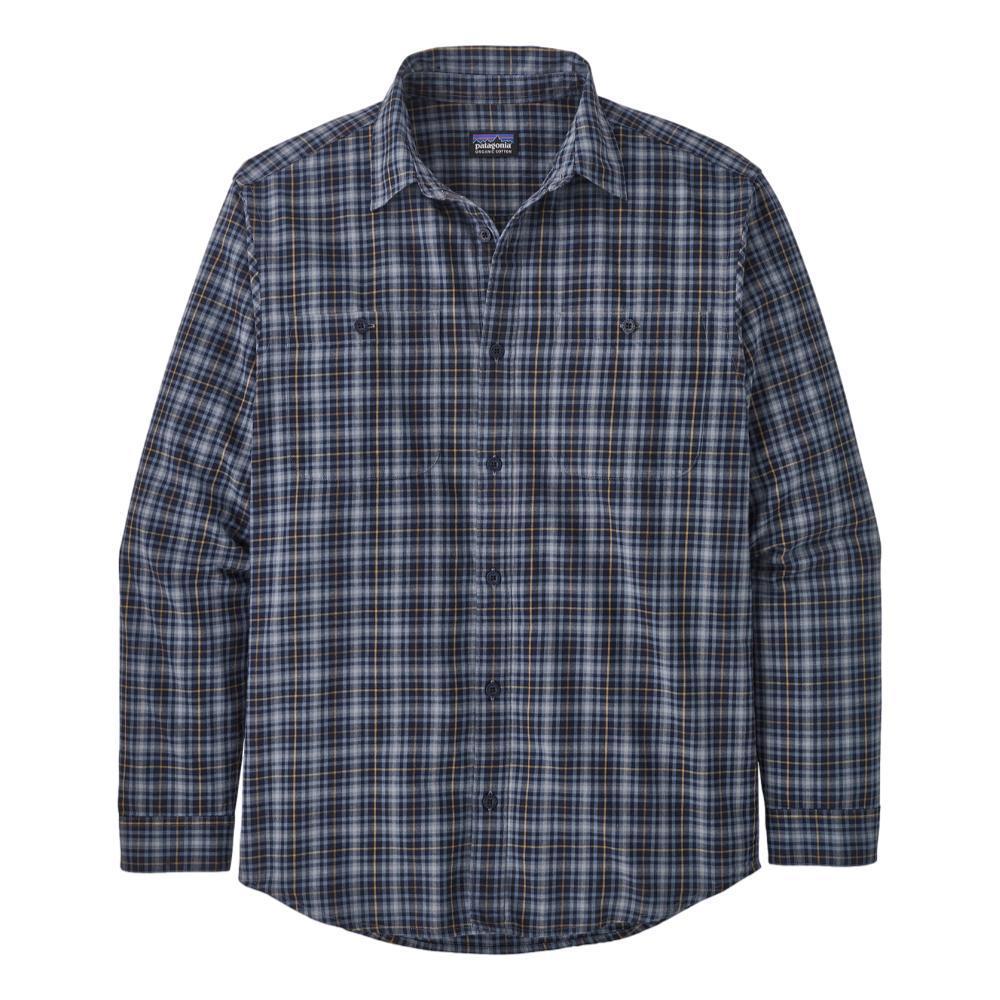 Patagonia Men's Long-Sleeved Organic Pima Cotton Shirt NAVY_FNVY