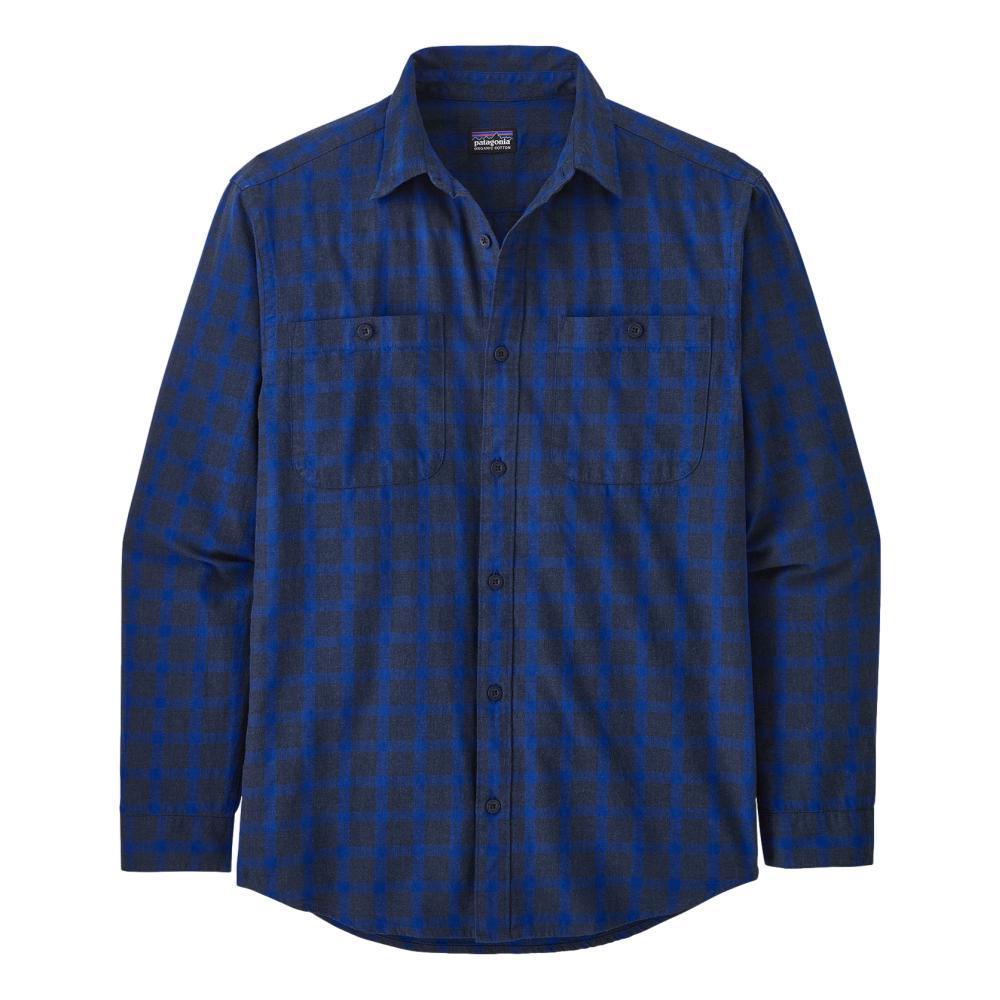 Patagonia Men's Long-Sleeved Organic Pima Cotton Shirt NAVY_LPNA