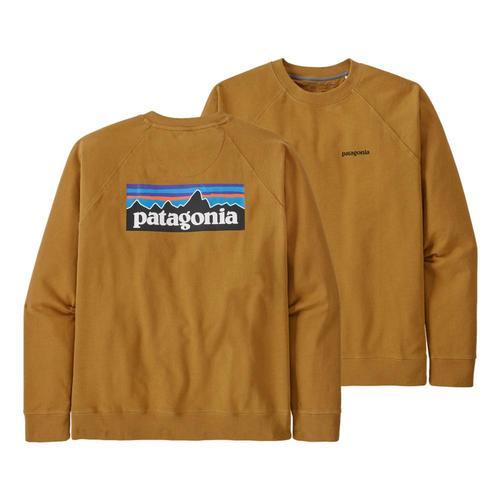 Patagonia Men's P-6 Logo Organic Crew Sweatshirt Brown_oksb