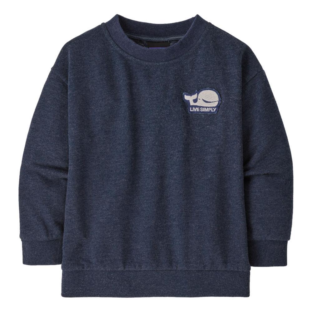 Patagonia Baby Lightweight Crew Sweatshirt NVYWHAL_LWNE