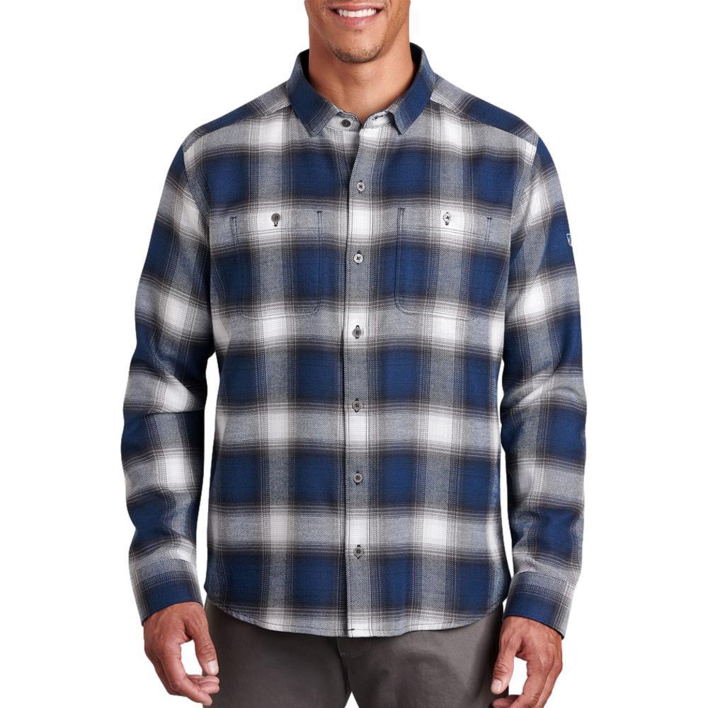 KUHL Men's Law Flannel Long Sleeve Shirt BLUE_BLG