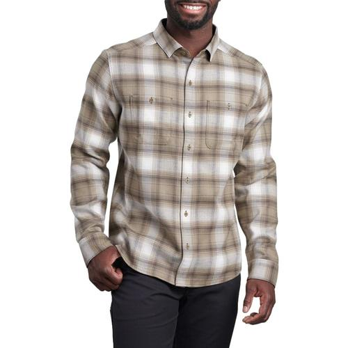 KUHL Men's Law Flannel Long Sleeve Shirt Olive_olgr
