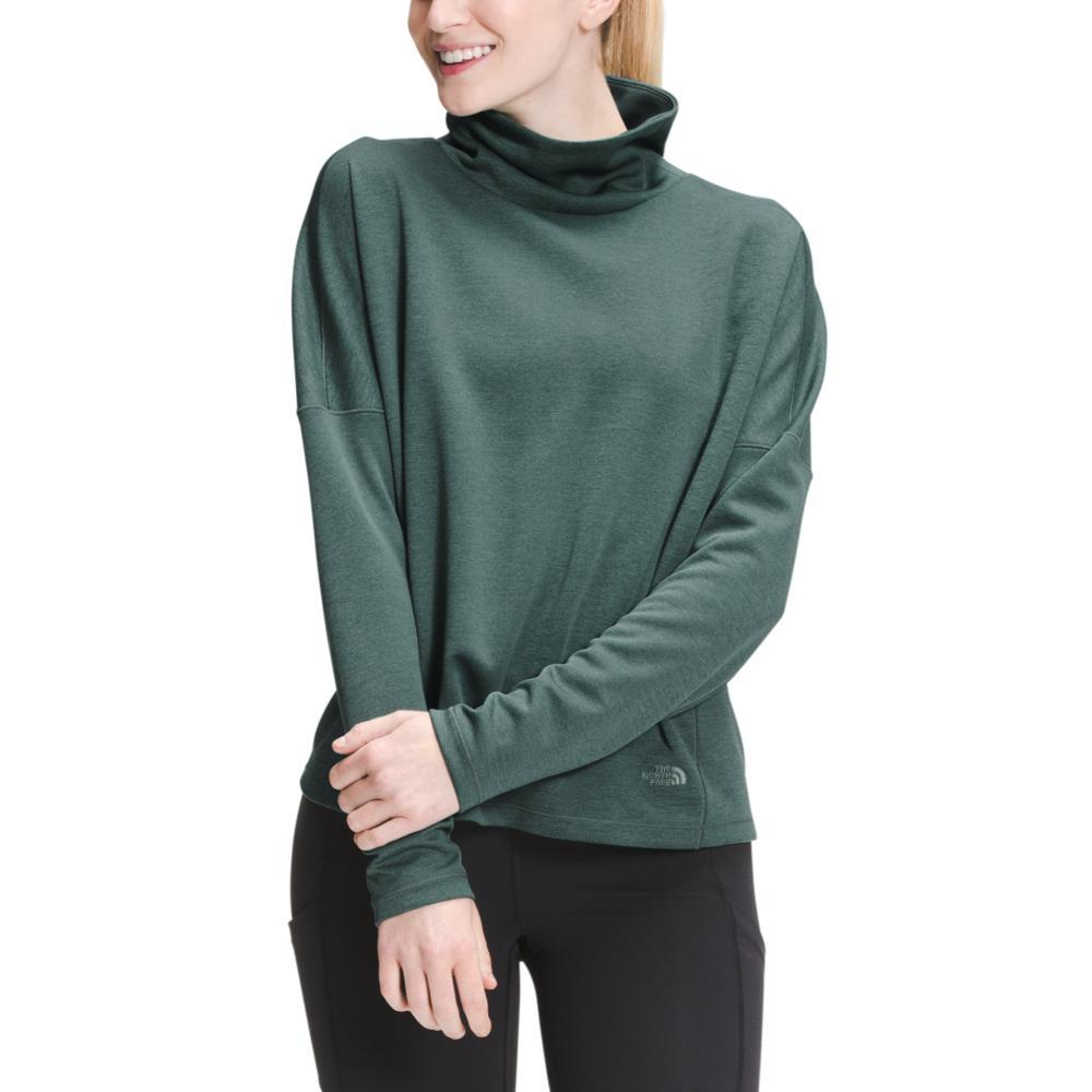 The North Face Women's EA Basin Funnel Neck Long Sleeve Top GREENH_HRM