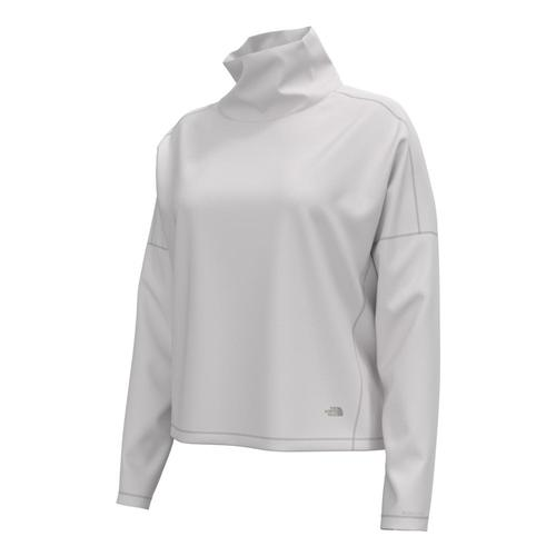 The North Face Women's EA Basin Funnel Neck Long Sleeve Top Whiteh_r8r