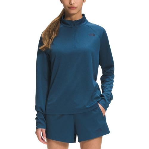 The North Face Women's Wander 1/4 Zip Pullover Moblue_q4v
