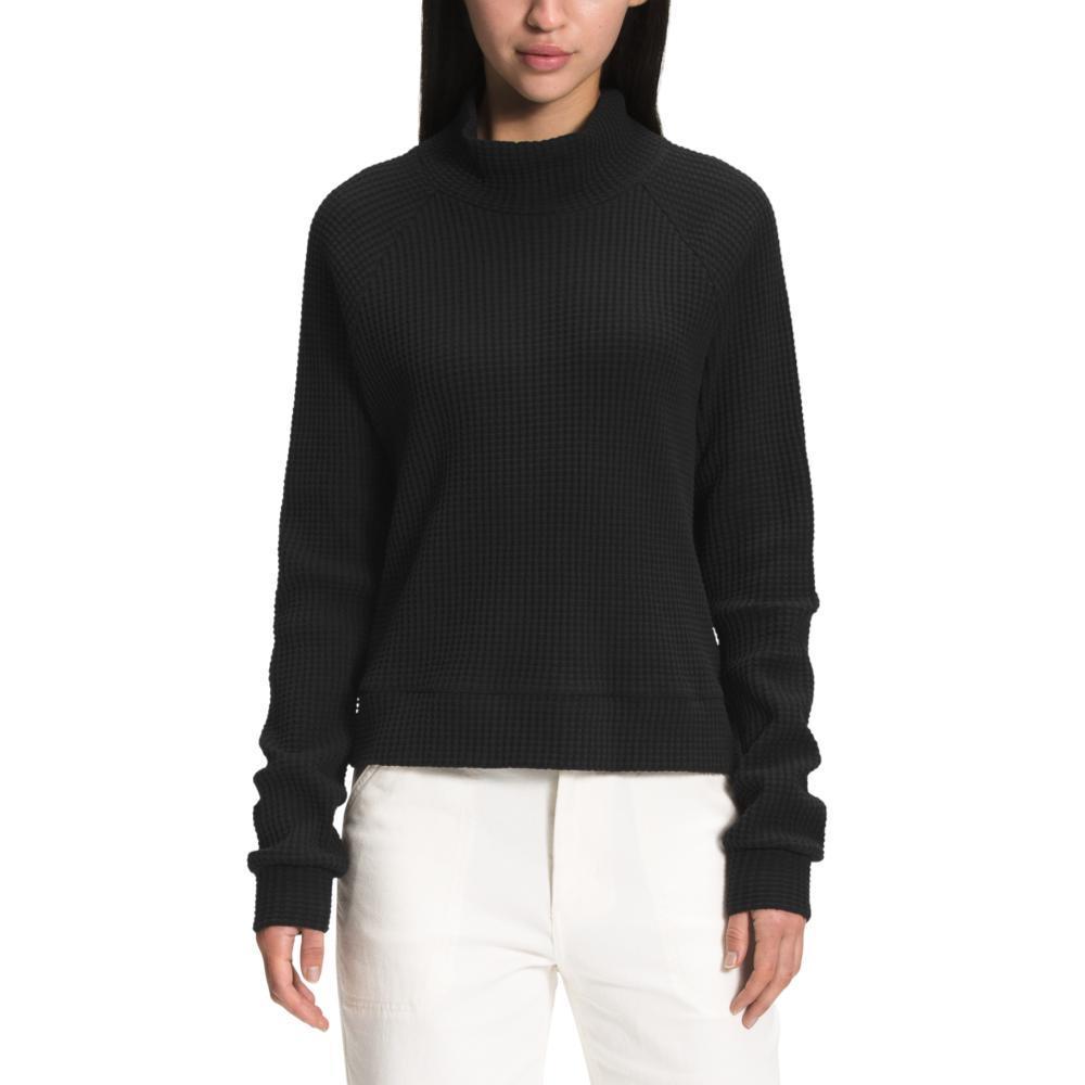 The North Face Women's Long Sleeve Mock Neck Chabot Top BLACK_JK3