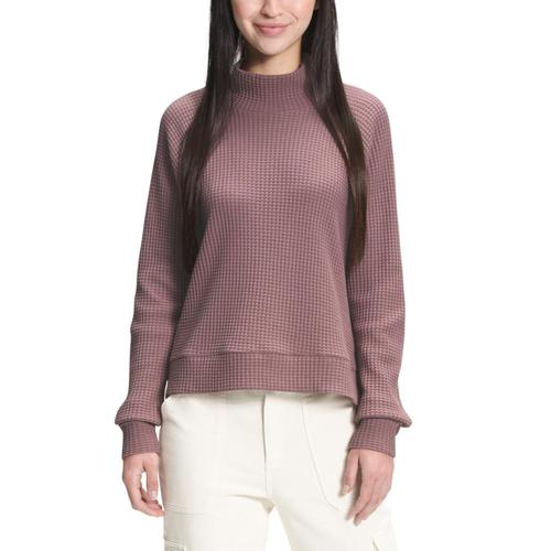 The North Face Women's Long Sleeve Mock Neck Chabot Top Mauve_0ta