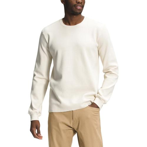 The North Face Men's All-Season Waffle Thermal Top White_11p