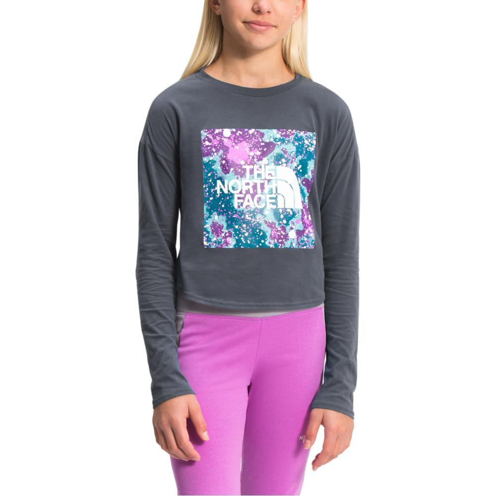 The North Face Girls' Long Sleeve Graphic Tee Shirt VANGREY_174