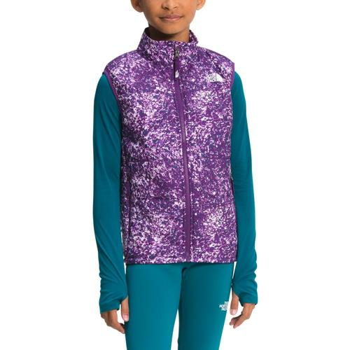 The North Face Youth Printed Reactor Insulated Vest Prplpnt_2h8
