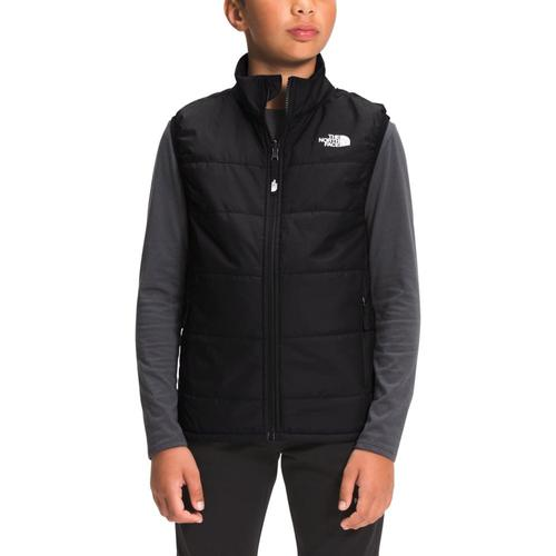 The North Face Youth Printed Reactor Insulated Vest Black_jk3