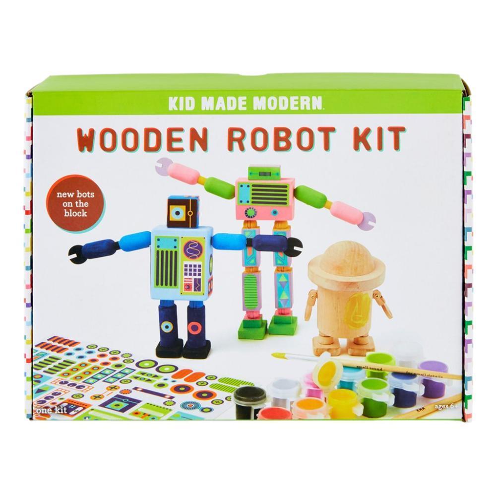 Kid Made Modern Wooden Robot Craft Kit