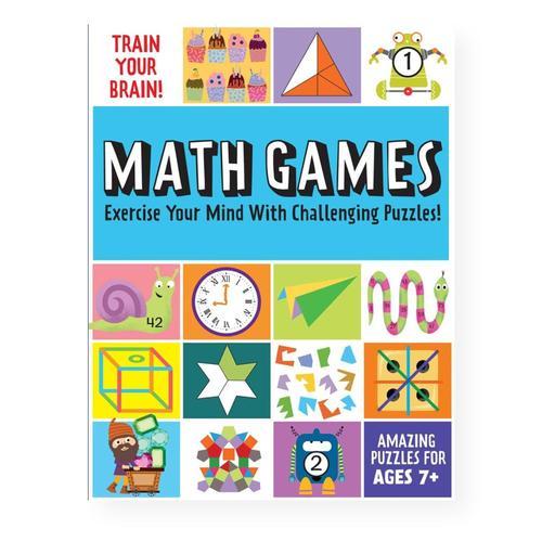 Train Your Brain: Math Games Book