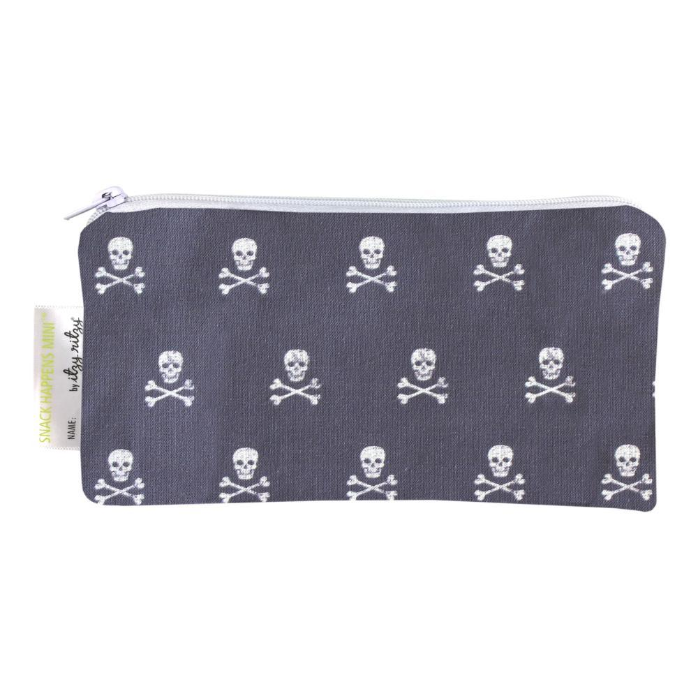Itzy Ritzy Snack Happens Mini Reusable Snack And Everything Bag - 2pk SKULLS