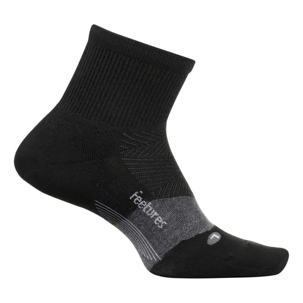Feetures Merino 10 Cushion Quarter Socks CHARCOAL