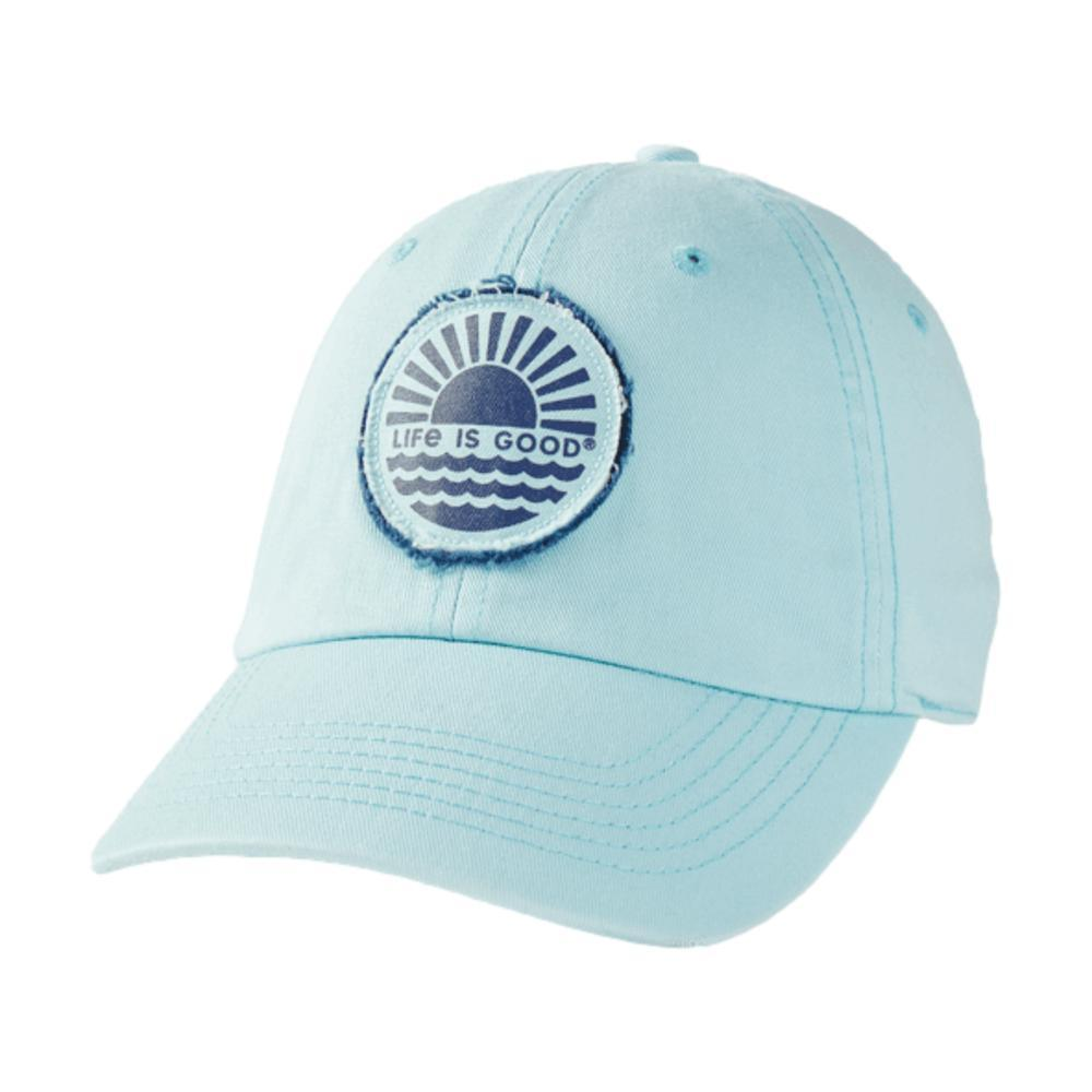 Life is Good Sunset on the Water Tattered Chill Cap BEACHBLUE