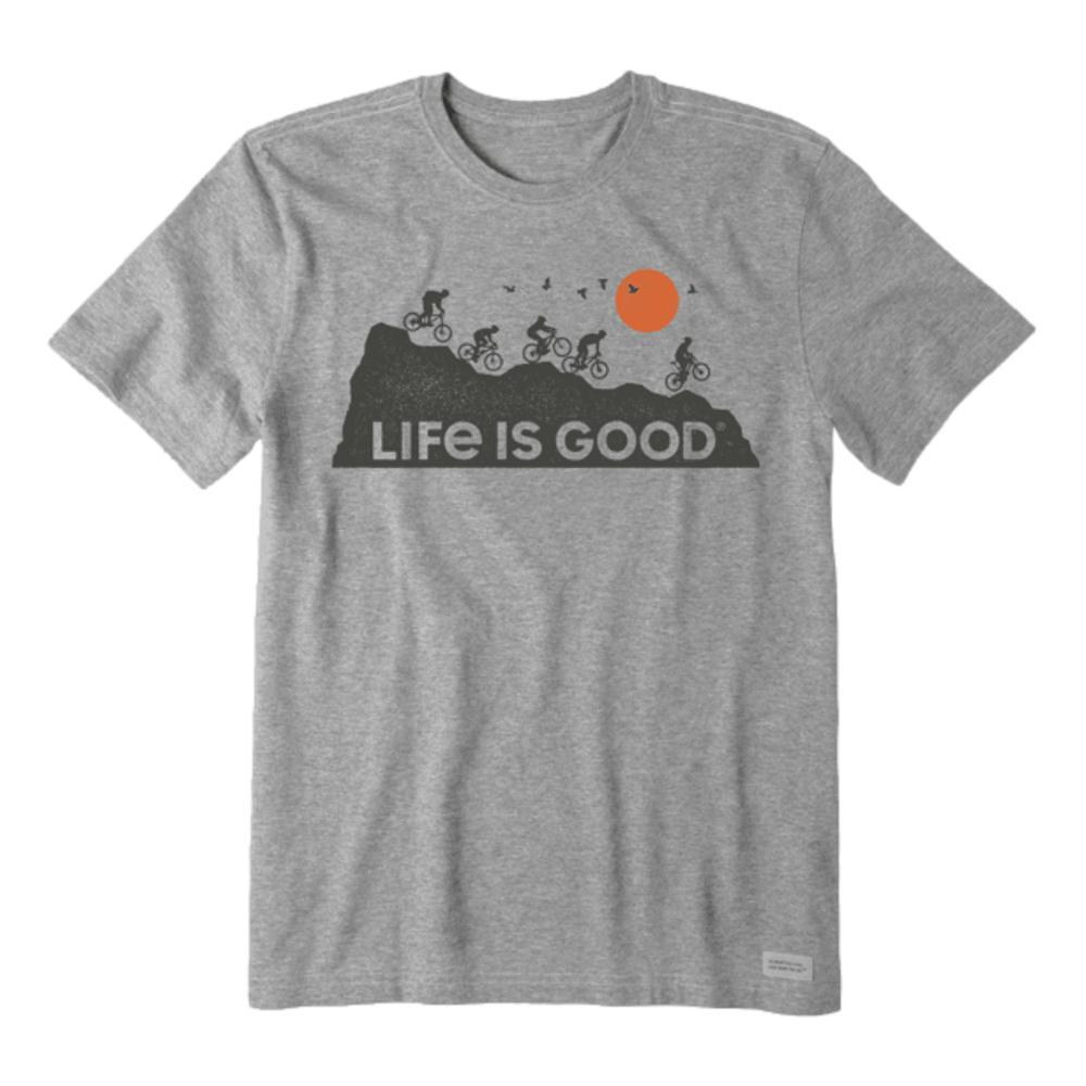 Life is Good Men's Ride on and on Crusher-Lite Tee HTHGREY