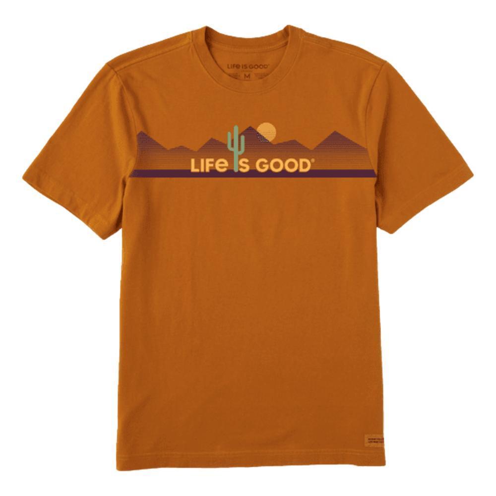 Life is Good Men's Cacti Are Good Crusher-Lite Tee COFFEEBRWN