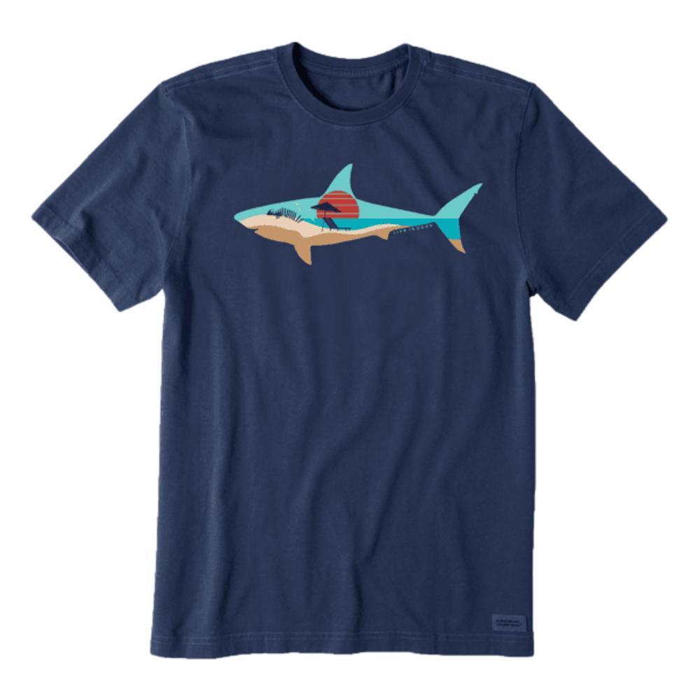 Life is Good Men's Sharkscape Crusher-Lite Tee DARKSTBLUE