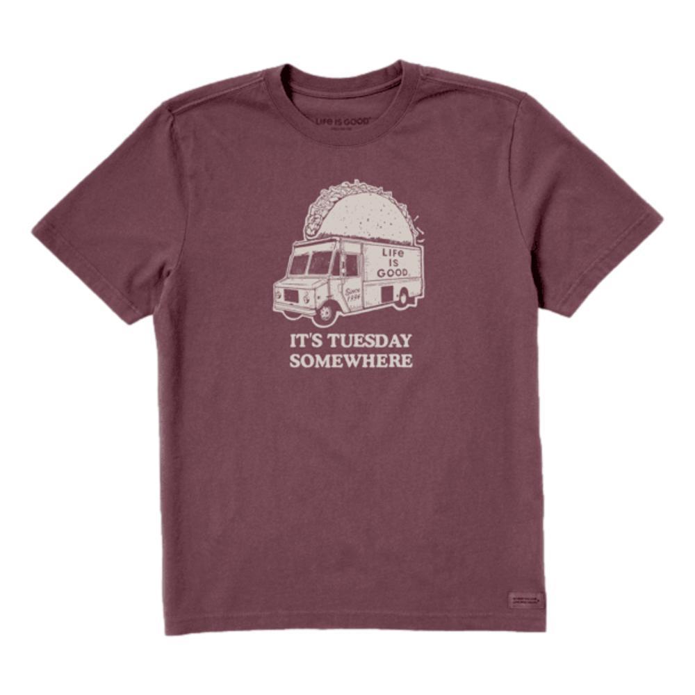 Life is Good Men's Taco Tuesday Truck Crusher Tee MAHOGYBRWN