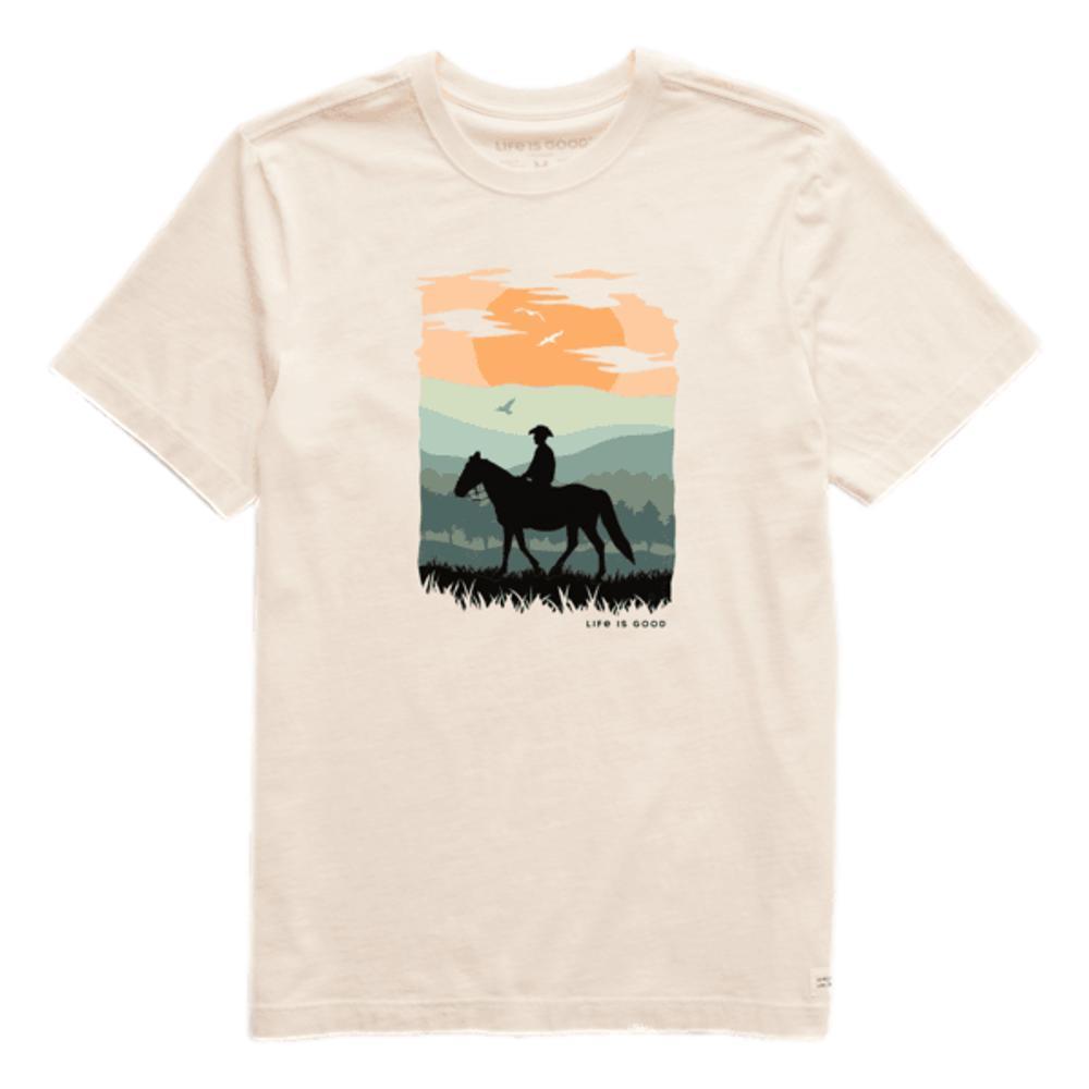 Life is Good Men's Sunset Rider Men Crusher Tee PUTTYWHITE