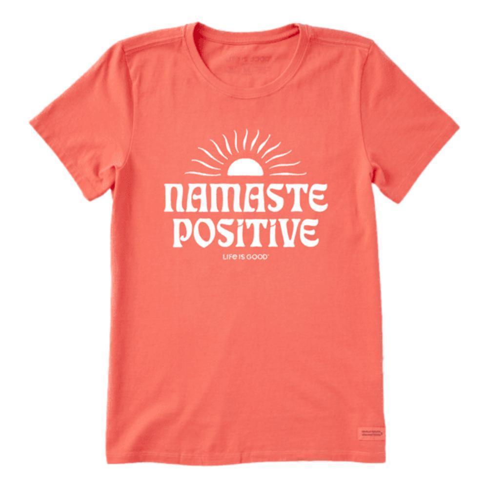 Life is Good Women's Namaste Postive Crusher Tee MANGORANGE