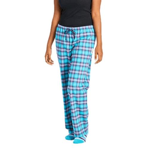 Life is Good Women's Island Blue Plaid Classic Sleep Pants Islandblue