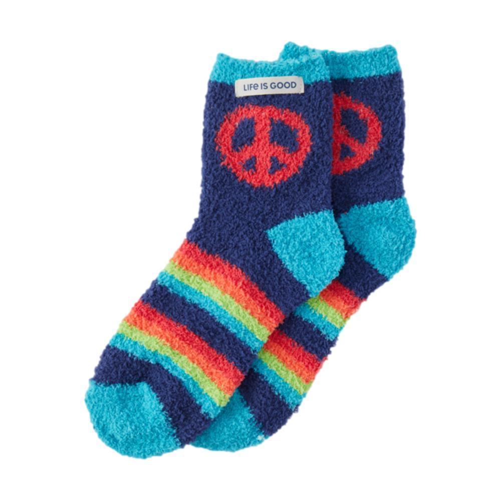 Life is Good Peace Snuggle Socks DARKESTBLUE