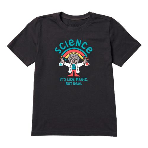 Life is Good Kids Science It's Like Magic But Real Crusher Tee Jetblack