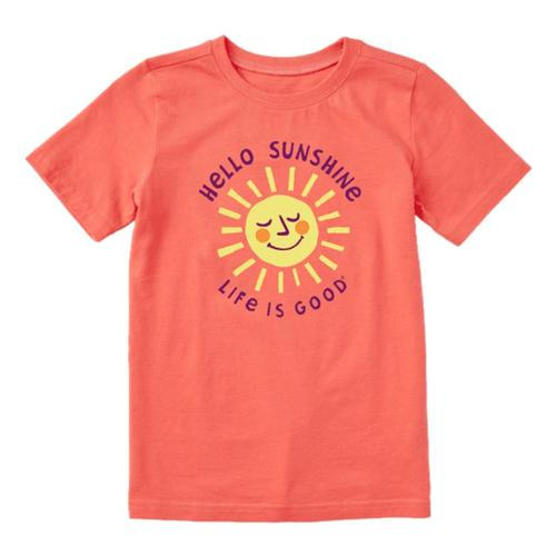 Life is Good Kids Hello Sunshine Crusher Tee Mango