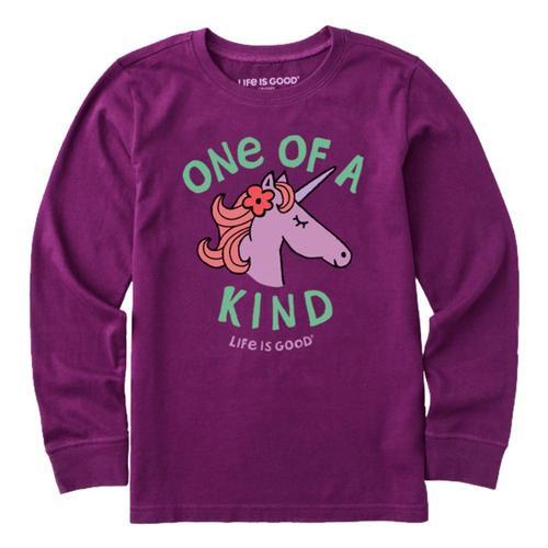 Life is Good Kids Kind Unicorn Long Sleeve Crusher Tee Purplehz