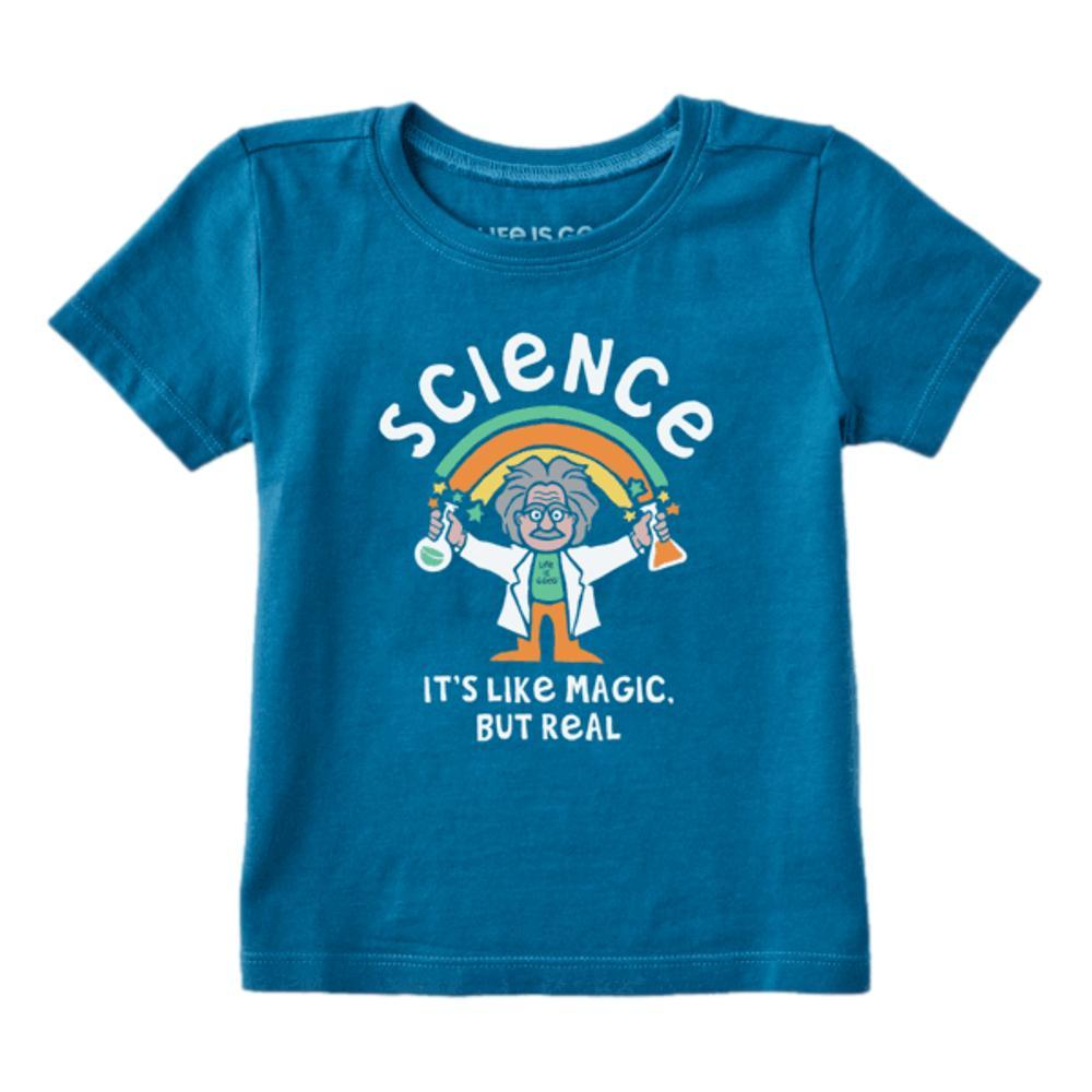 Life is Good Toddler Science Is Like Magic Crusher Tee PERBLUE