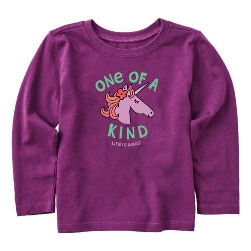 Life is Good Toddler Kind Unicorn Long Sleeve Crusher Tee Purplehz