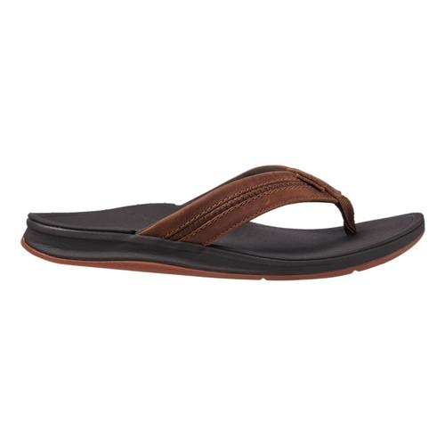 Reef Men's Leather Ortho Coast Sandals Brown