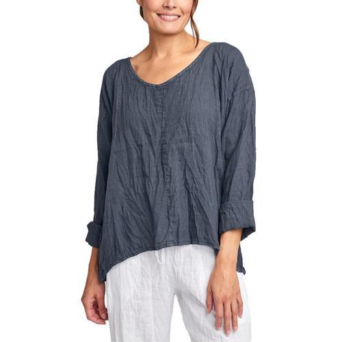 FLAX Women's Whisperer Shirt Slate