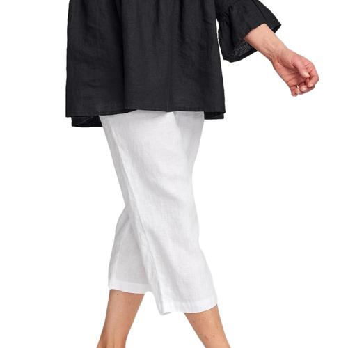 FLAX Women's Sweet Pea Cropped Pants Blanc