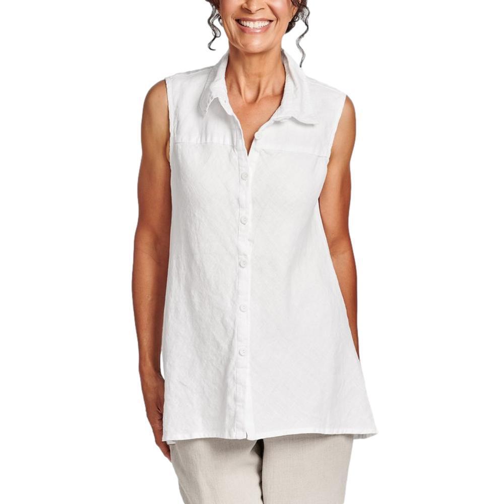 FLAX Women's Generous Skyline Blouse WHITE