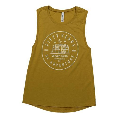 Whole Earth Women's 50th Anniversary Muscle Tank Mustard