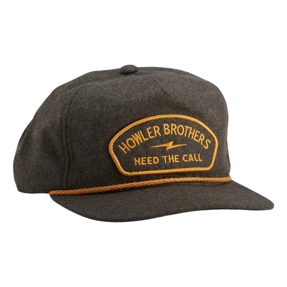 Howler Brothers Lightning Badge Snapback Hat BATTLGREEN