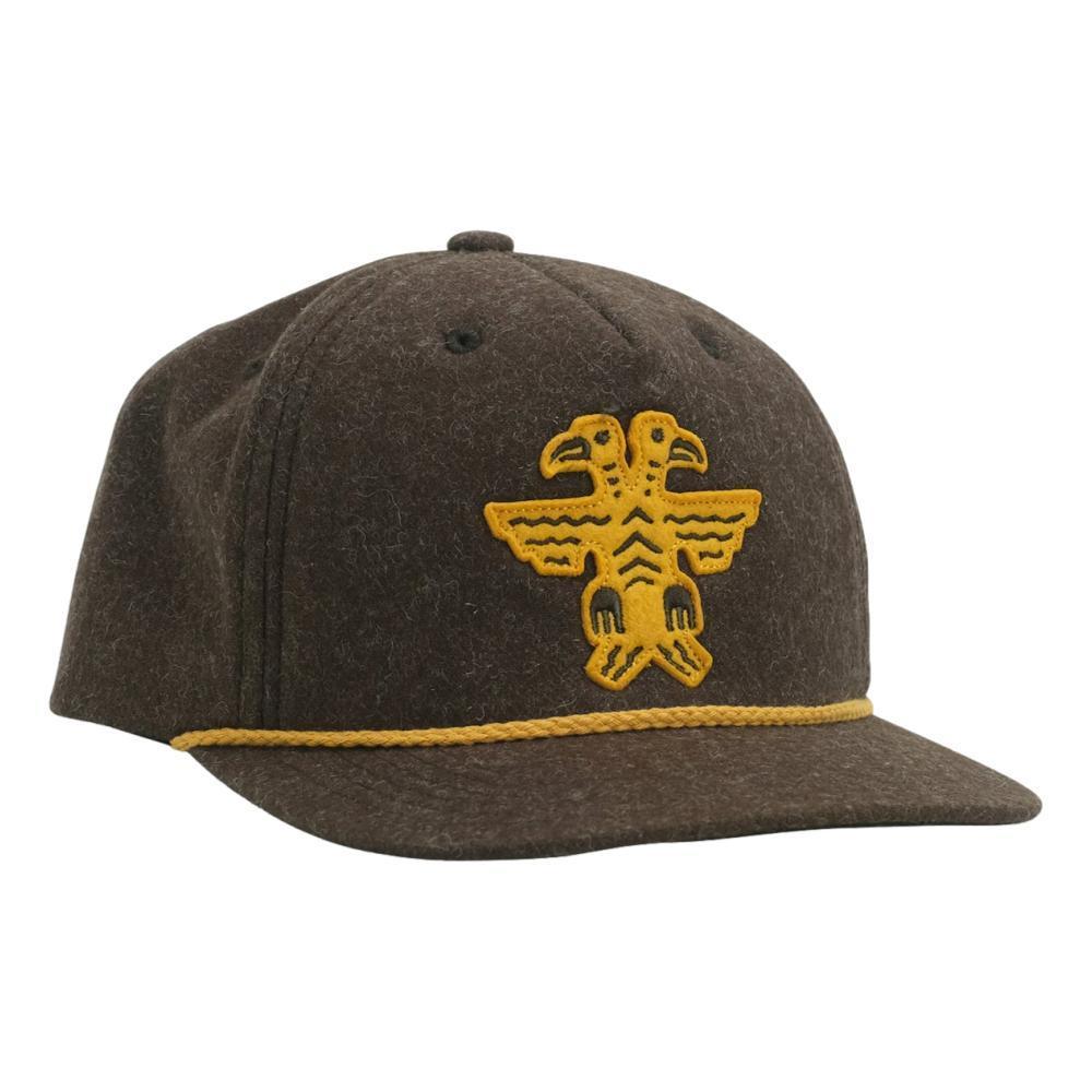 Howler Brothers 2 Headed Bird Snapback Hat BROWN