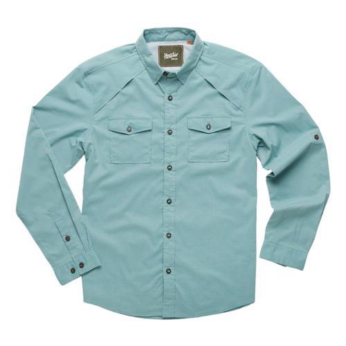 Howler Brothers Men's Firstlight Tech Shirt Green_mic