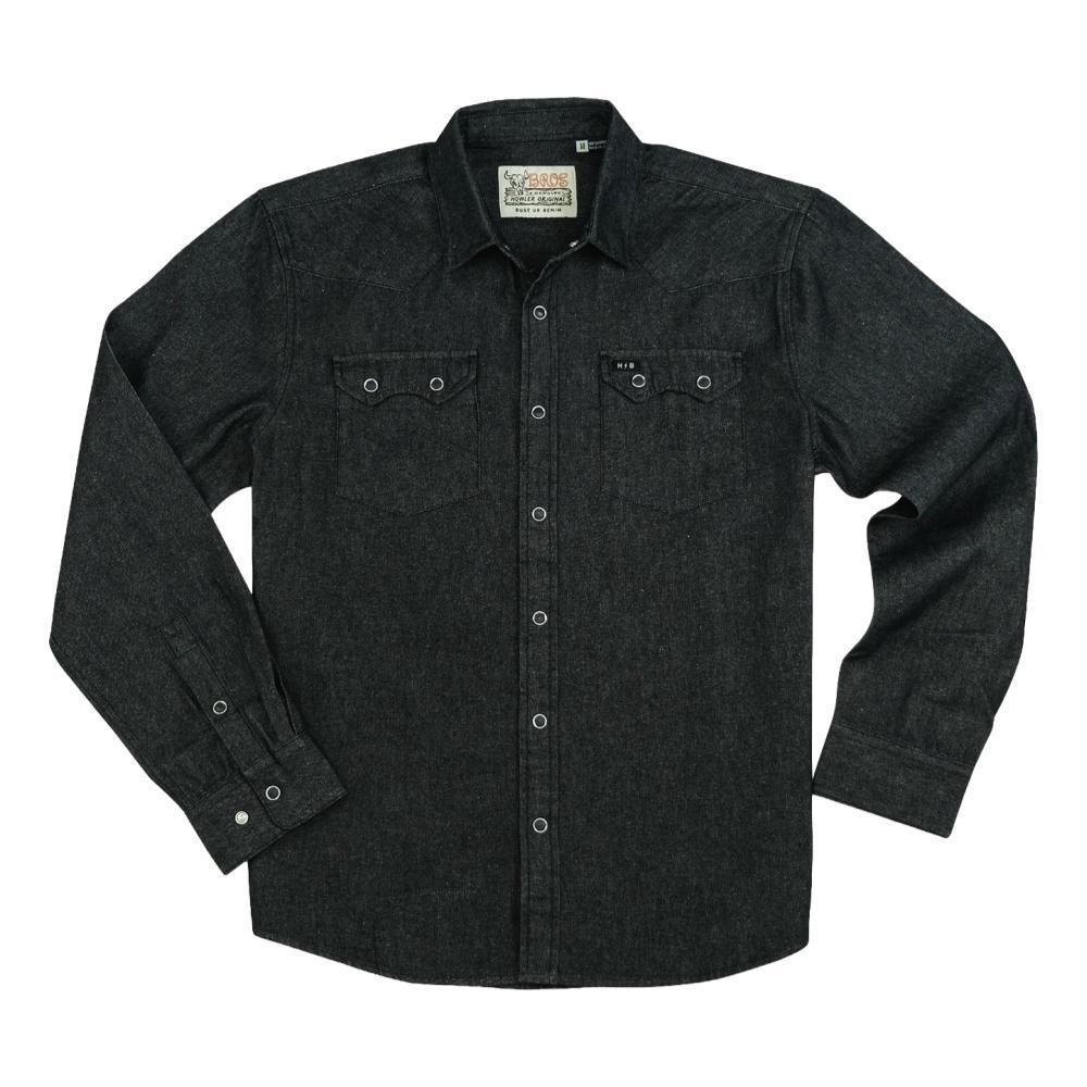 Howler Brothers Men's Dust Up Denim Snap Long-Sleeved Shirt BLACK_WBL
