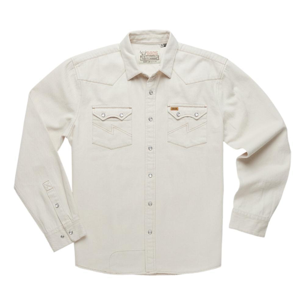 Howler Brothers Men's Dust Up Denim Snap Long-Sleeved Shirt NATURAL_NAT