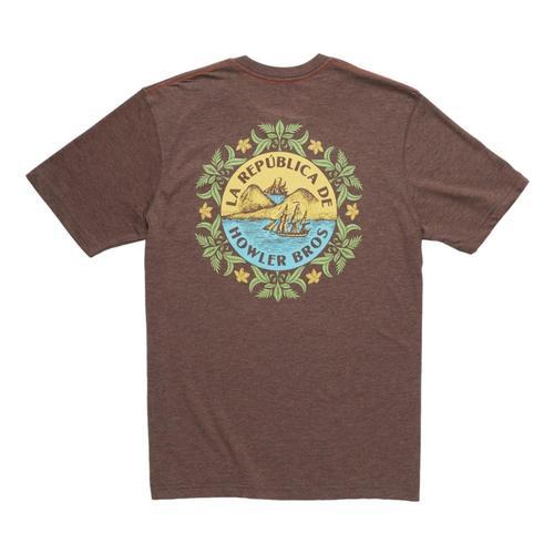 Howler Brothers La Republica Pocket T-shirt Espresso