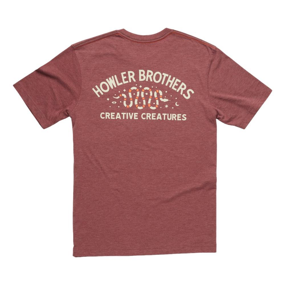 Howler Brothers Creative Creatures Snake Pocket T-shirt  BURGUNDY