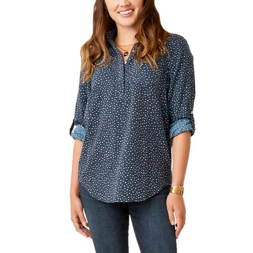 Carve Designs Women's Sawyer Twill Tunic Long Sleeved Shirt Navypo_567