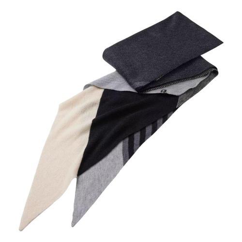 Smartwool Snowline Point Stripe Scarf Black_001